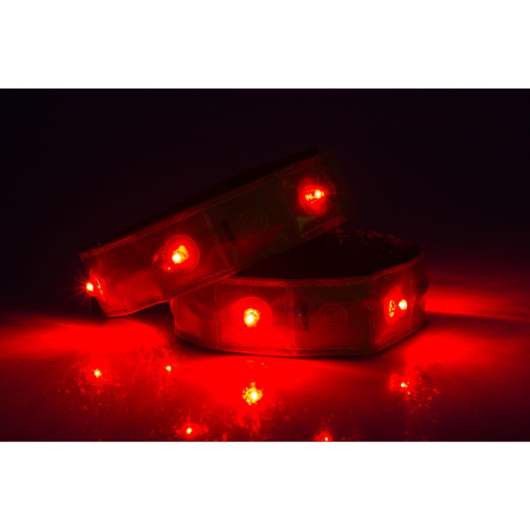 Avento® Sportarmband Reflecterend met LED Verlichting - Set 2 Stuks