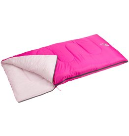 Abbey Camp® Slaapzak Junior Roze 12+ °C (140 x 70 cm)