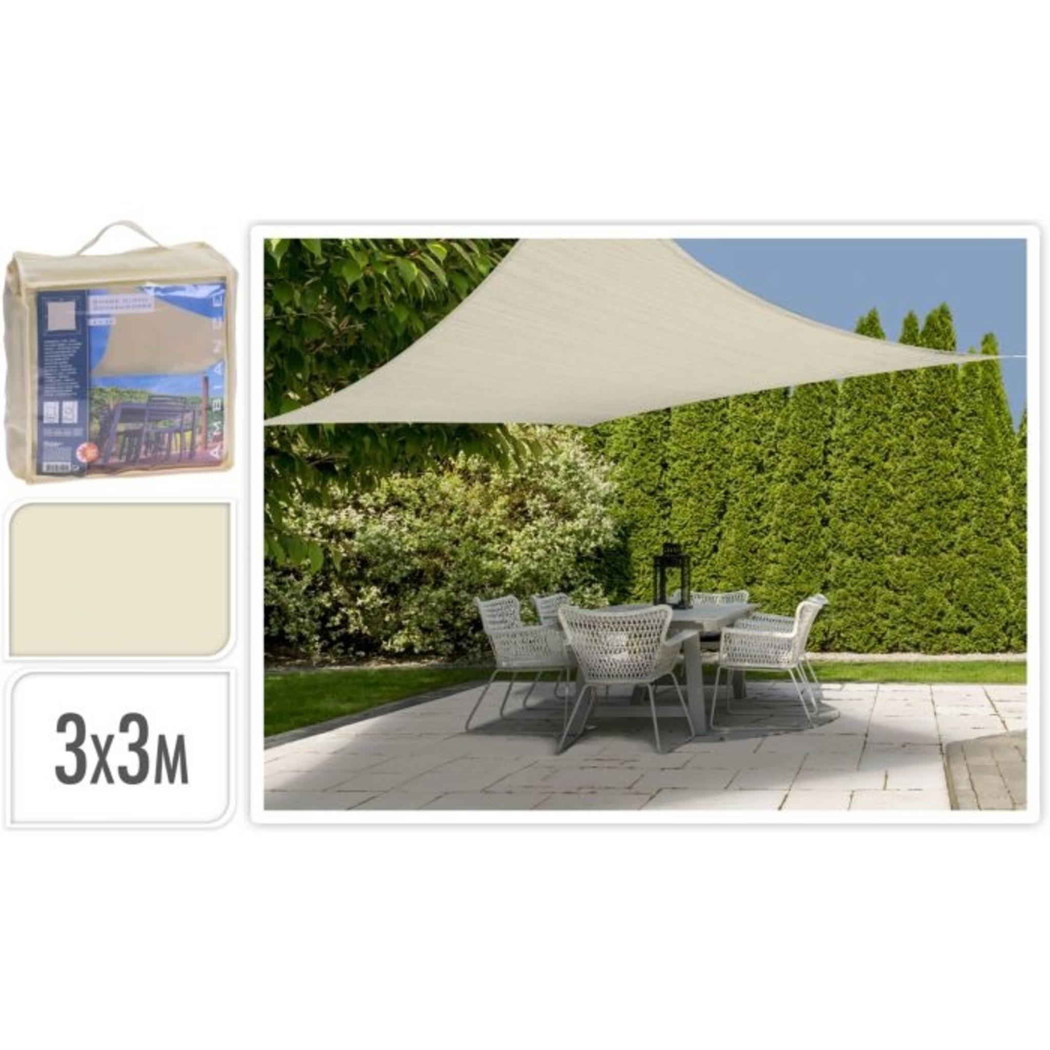Schaduwdoek met UV bescherming UPF 50+ - 3x3 meter - Off White