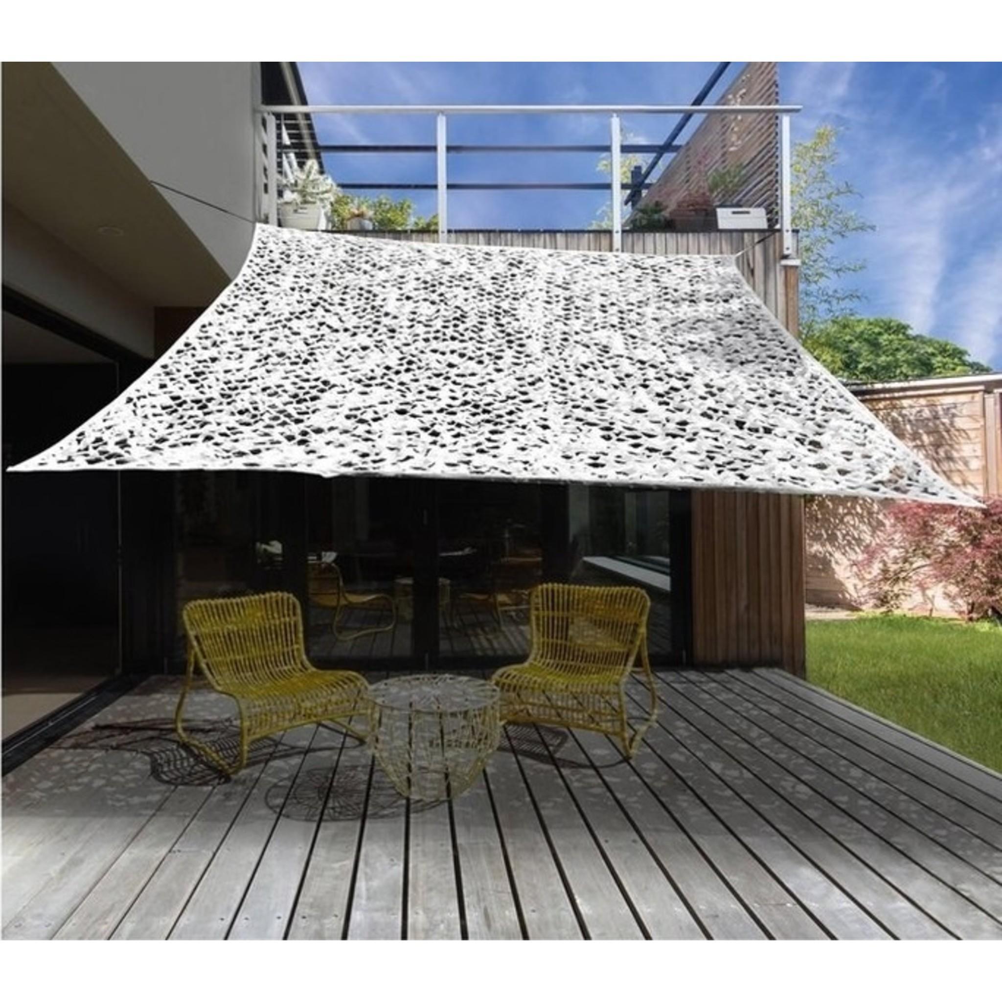 Camouflage / Schaduw Net - 2x3 meter - Wit