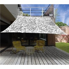 Camouflage / Schaduw Net - 3x3 meter - Wit