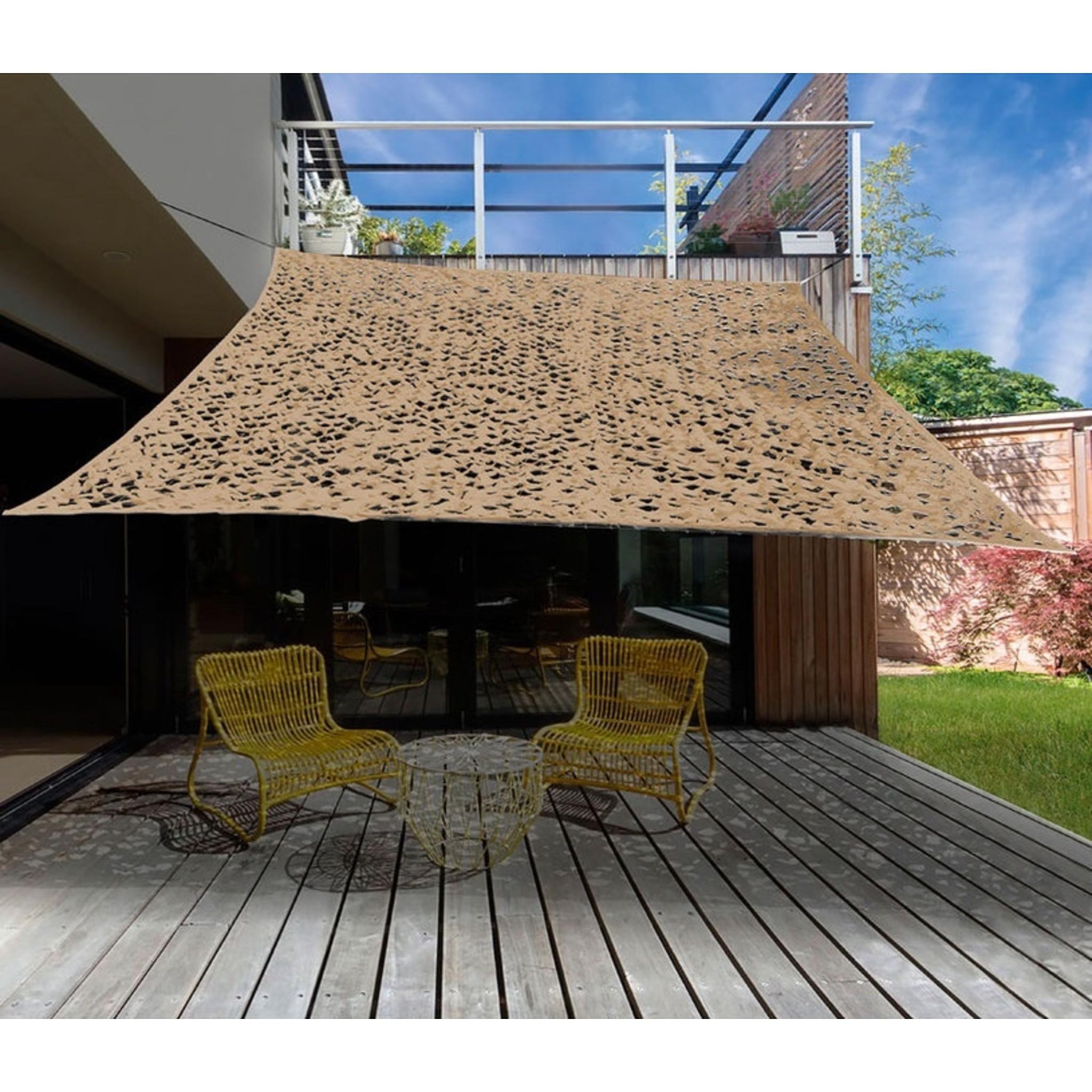 Camouflage / Schaduw Net - 3x3 meter - Zandkleur