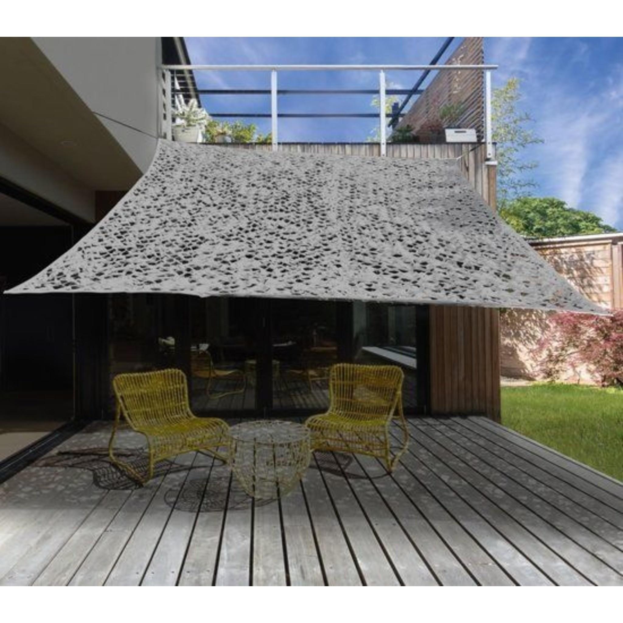 Camouflage / Schaduw Net - 3x3 meter - Licht Grijs