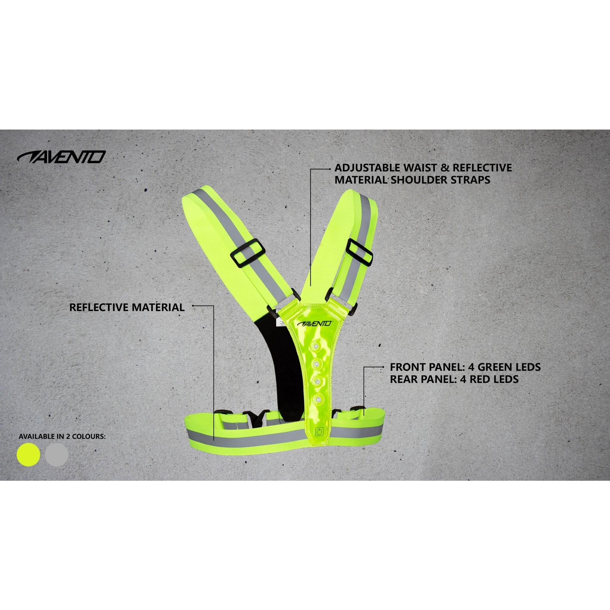 Avento® Hardloop Veiligheidsvest Reflecterend met LED's