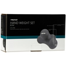 Avento® Handgewicht Set Bone - 2 x 2 Kg