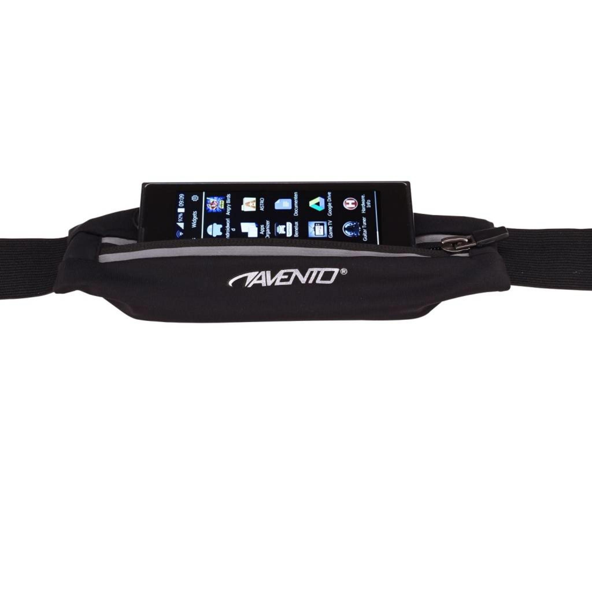 Avento® Hardloop Riem Met Elastisch Tasje Voor Smartphone