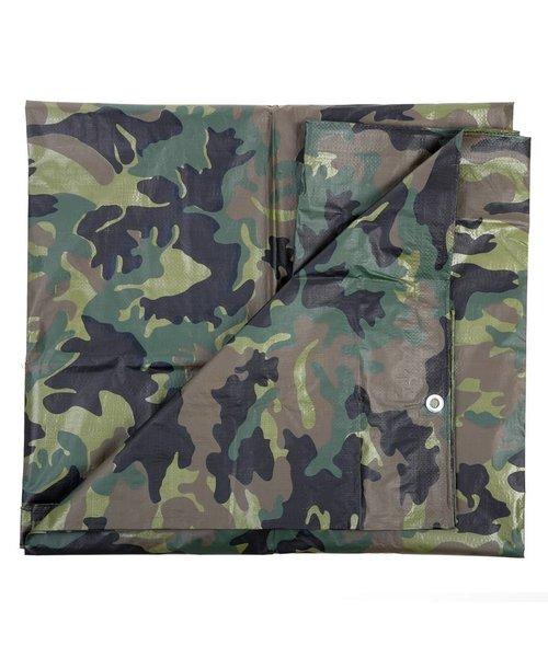 101 INC Camouflage Zeil Woodland 5 X 6 Meter