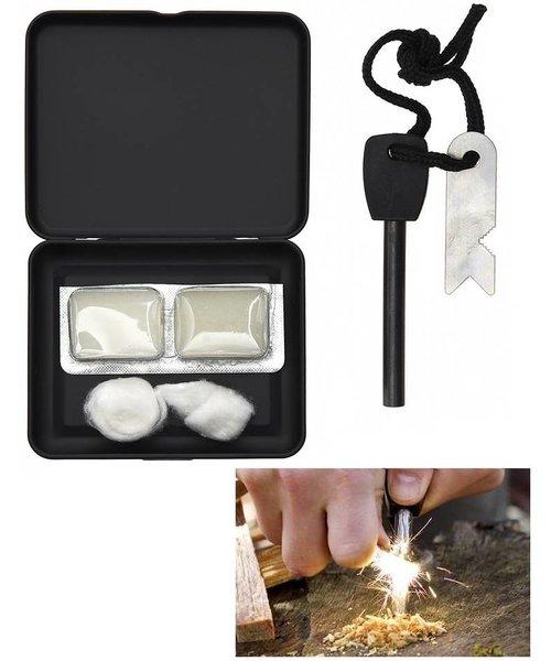 Fosco Fire Starter Set In Opbergbox Incl. Magnesium Stick