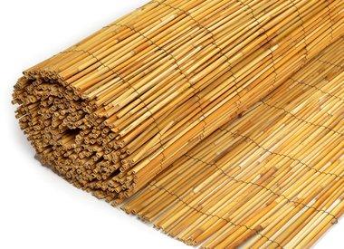Rietmatten van gepeld riet 6-8 mm dik