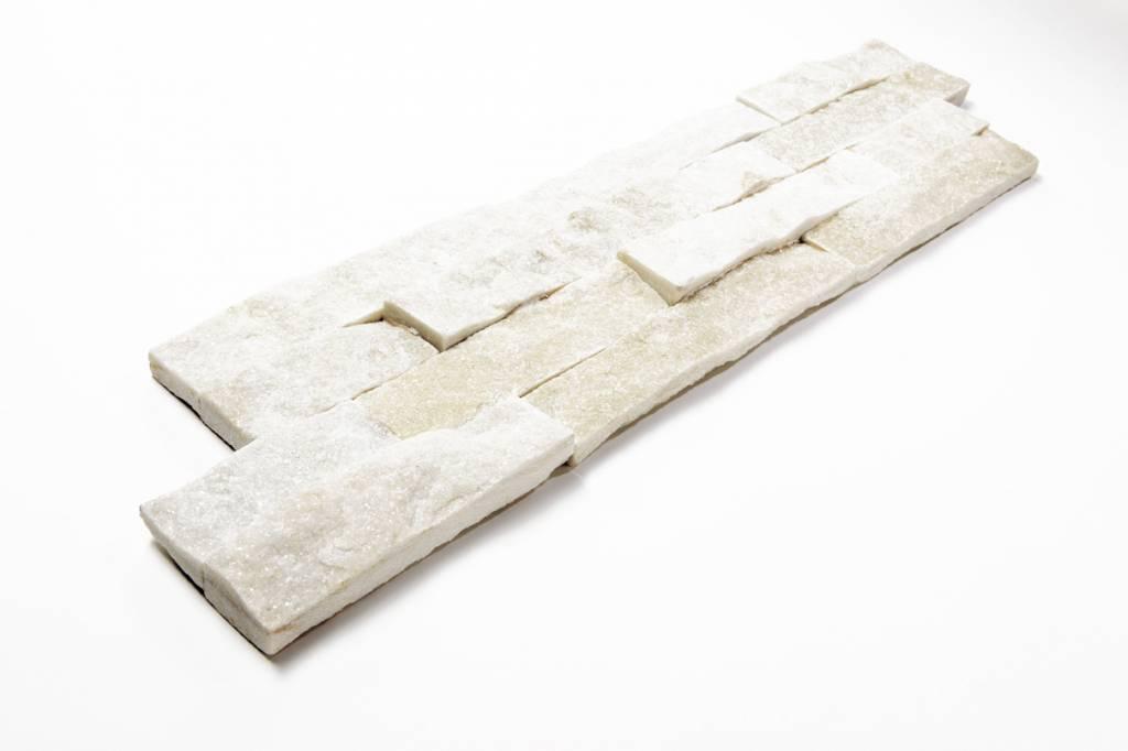 Brickstone White Kwartsiet Nauursteen Steenstrips