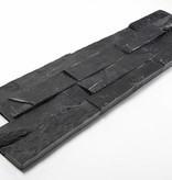 Wall bricks stone panels Black Slate