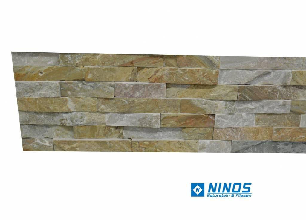 Brickstone Beige Kwartsiet Natuursteen Steenstrips