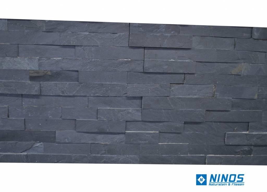 Briques mur de pierre Brickstone Ardoise Noir