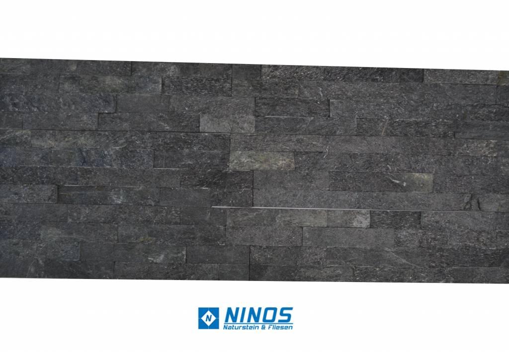 Brickstone Black Kwartsiet Nauursteen Steenstrips