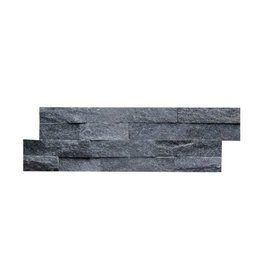 Brickstone Schwarz Glitz Naturstein Verblender Wandverblender 1. Wahl in 55x15 cm