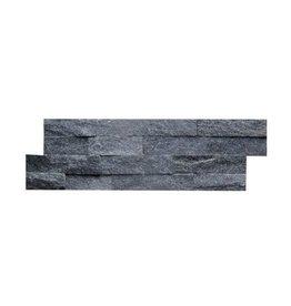 Briques mur de pierre Quarzit Brickstone Black 1. Choice dans 55x15 cm