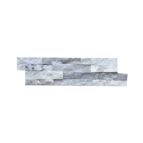 Briques mur de pierre Quarzit Brickstone White Grey