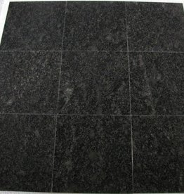 Steel Grey Granite Tiles Polished, Chamfer, Calibrated, 1st choice in 30,5x30,5x1 cm
