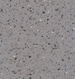 Starlight Grey Quarzkomposit Fliesen Poliert, Gefast, Kalibriert, Premium Qualität 1.Wahl in 60x30x1 cm