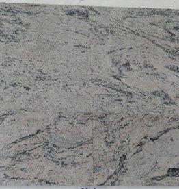Meera White Dalles en granit poli chanfrein calibré 1. Choice dans 30,5x30,5x1cm
