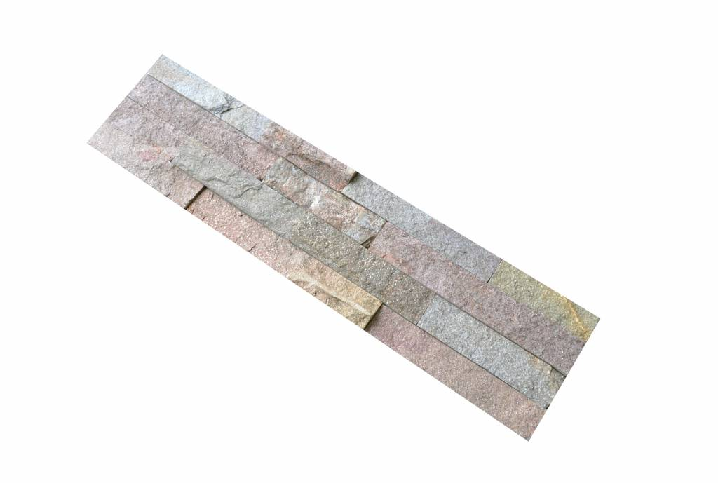 Brickstone Rusty Kwartsiet Nauursteen Steenstrips