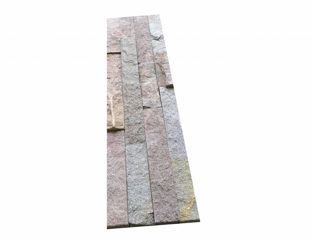 Wall bricks stone panels Quarzite Rusty