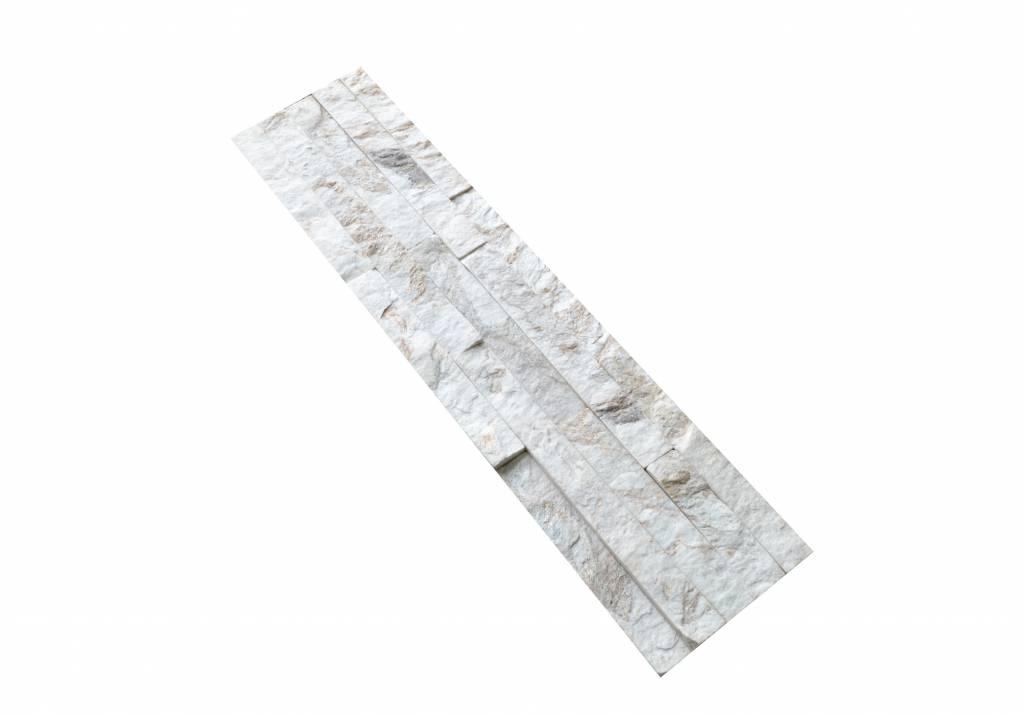 Wall bricks stone panels Quarzite White Gold