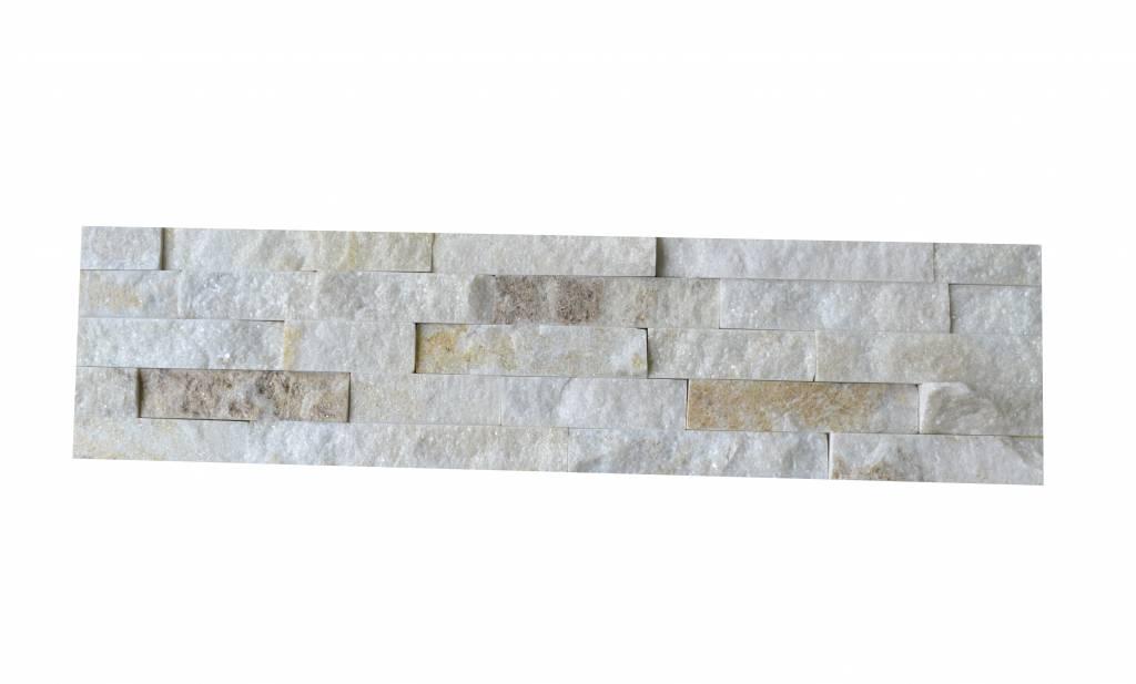 Briques mur de pierre Quarzit Brickstone White Creme