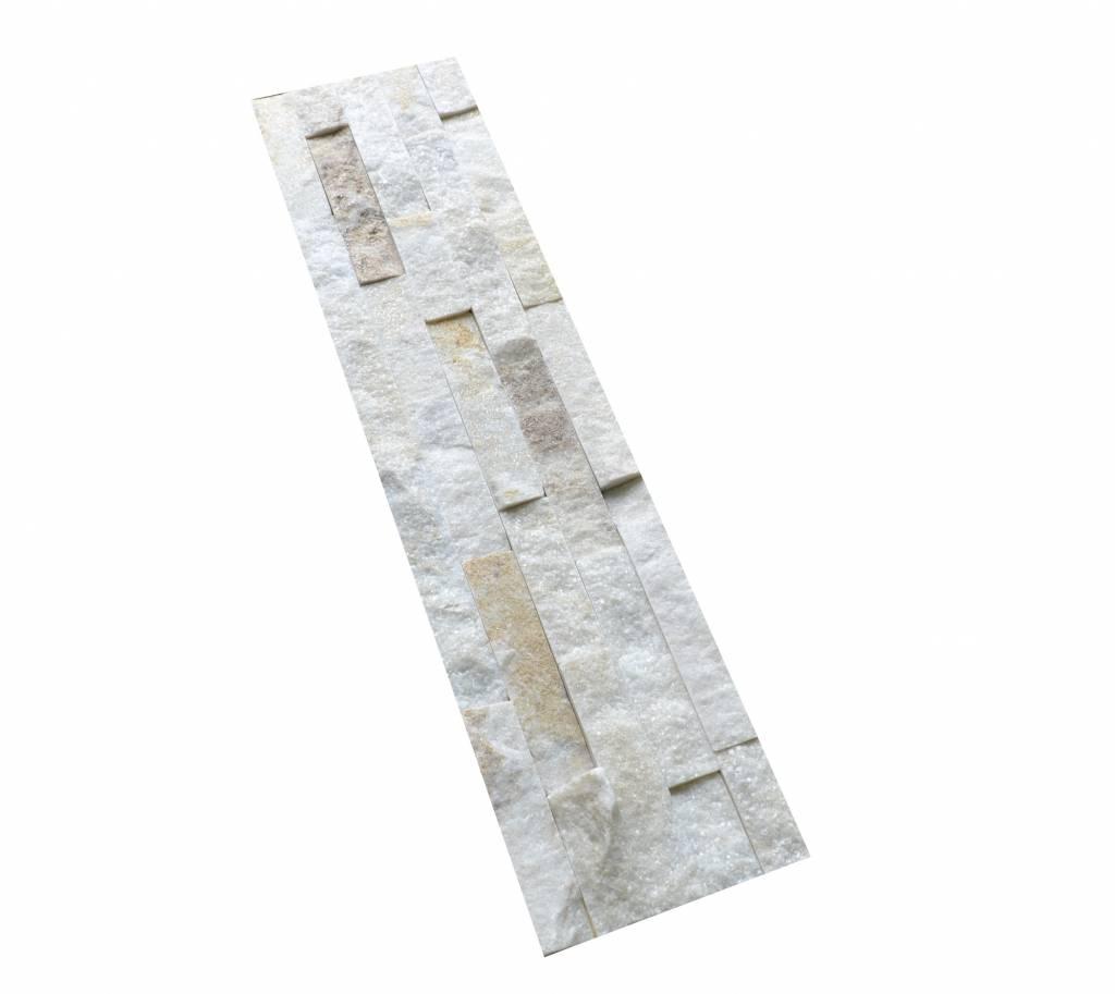 Brickstone White Creme Kwarcyt cegły kamienia naturalnego