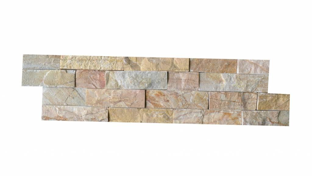 Brickstone New Beige Kwartsiet Natuursteen Steenstrips
