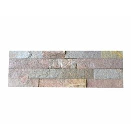 Wall bricks stone panels Quarzite Rusty 1. Choice in 55x15 cm