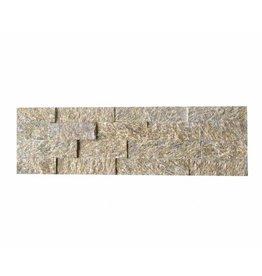 Brickstone Tiger Yellow Naturstein Verblender Wandverblender 1. Wahl in 55x15 cm