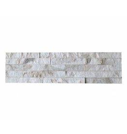 Brickstone Weiß Gold Quarzit Naturstein Verblender Wandverblender 1. Wahl in 55x15 cm