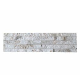 Wall bricks stone panels Quarzite White Gold 1. Choice in 55x15 cm