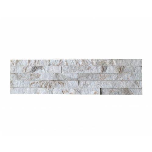 Brickstone White Gold Kwartsiet Nauursteen Steenstrips