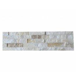 Briques mur de pierre Quarzit Brickstone White Creme 1. Choice dans 55x15 cm