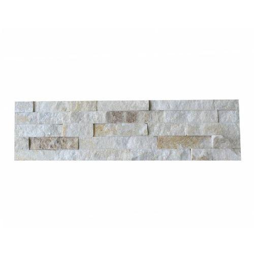 Brickstone White Creme Quarzit Naturstein Verblender Wandverblender