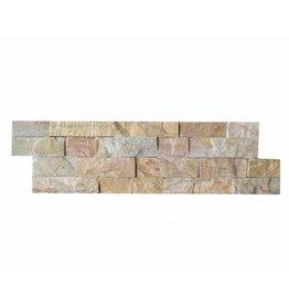 Brickstone New Beige Kwarcyt cegły kamienia naturalnego 1 Wybór w 55x15 cm