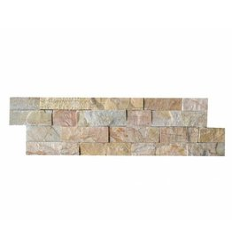 Brickstone New Beige Kwartsiet Natuursteen Steenstrips 1. Keuz in 55x15 cm