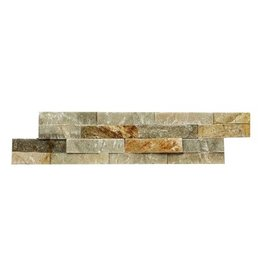 Brickstone Beige Quarzit Naturstein Verblender Wandverblender 1. Wahl in 55x15 cm