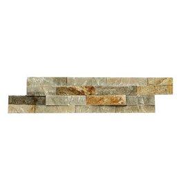 Briques mur de pierre Quarzit Brickstone Beige 1. Choice dans 55x15 cm