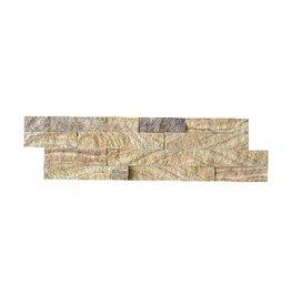 Bronce Gold Naturstein Verblender Wandverblender 1. Wahl in 55x15 cm
