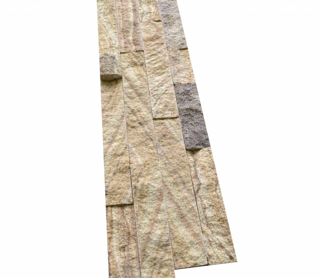 Bronce Gold Grey cegły kamienia naturalnego