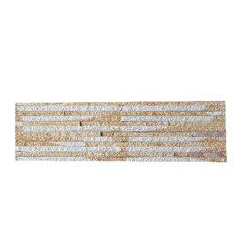 Sand Creme Nauursteen Steenstrips 1. Keuz in 55x15 cm