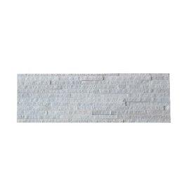 White Slim Naturstein Verblender Wandverblender 1. Wahl in 55x15 cm