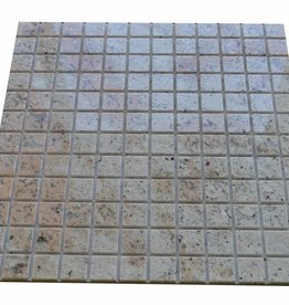 Ivory Brown Granit Mosaïque Carrelage 1. Choice dans 30x30 cm
