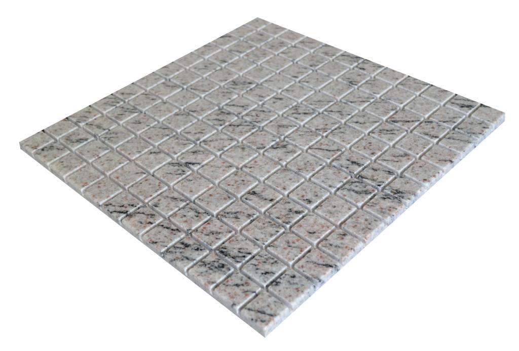 Mera White Granit Mosaikfliesen