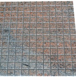 Multicolor Red Granit Mosaïque Carrelage 1. Choice dans 30x30 cm