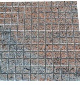 Multicolor Red Granit mozaïek tegels 1. Keuz in 30x30 cm