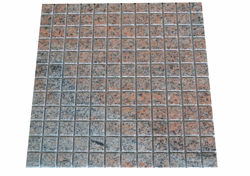 Multicolor Red Granit mosaic tiles